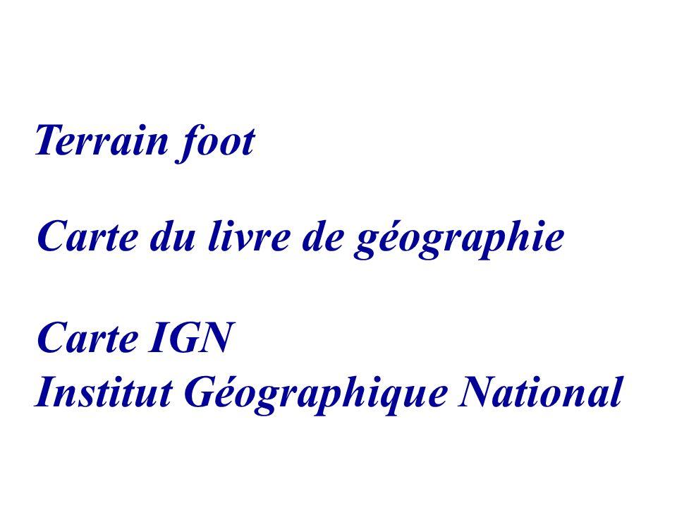Carte du livre de géographie