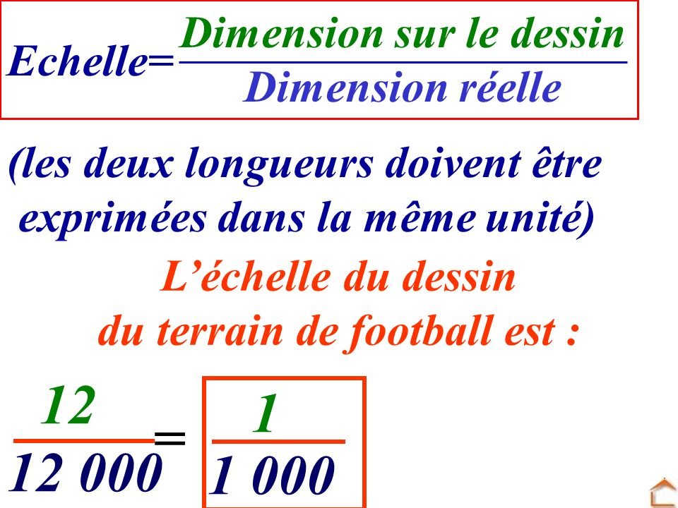 Dimension sur le dessin du terrain de football est :