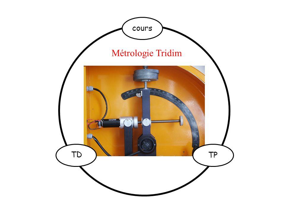 cours Métrologie Tridim TD TP