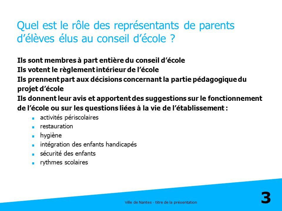 Quel est le rôle des représentants de parents d'élèves élus au conseil d'école