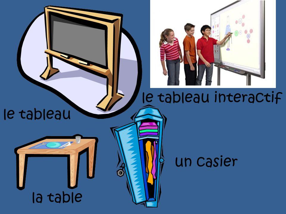 le tableau interactif le tableau un casier la table