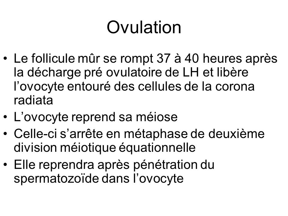 Physiologie en gyn cologie et en obst trique ppt video online t l charger - Ovulation avant retour de couche ...
