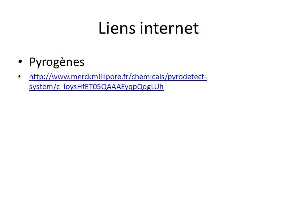 Liens internet Pyrogènes