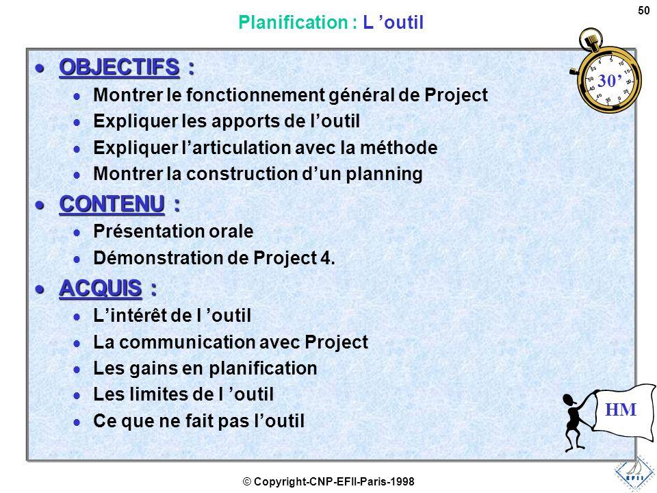 Planification : L 'outil