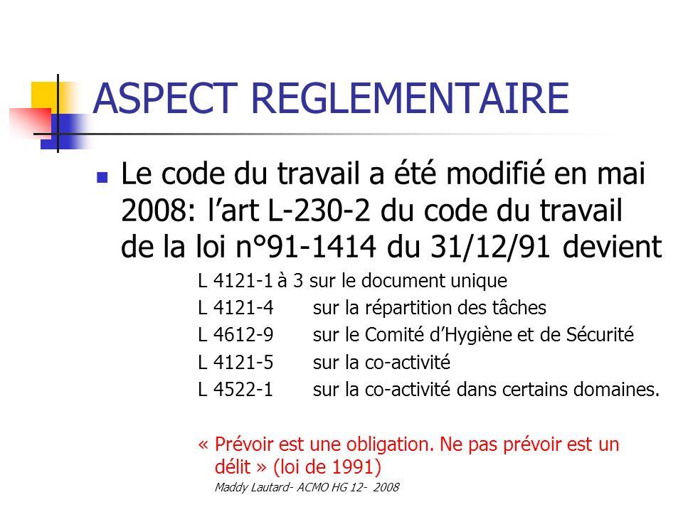 LE DOCUMENT UNIQUE 1- Aspect règlementaire 2- Danger et ...