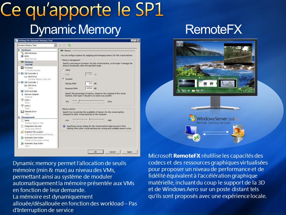 Division serveurs et infrastructures cloud computing ppt - Performances du bureau pour windows aero ...