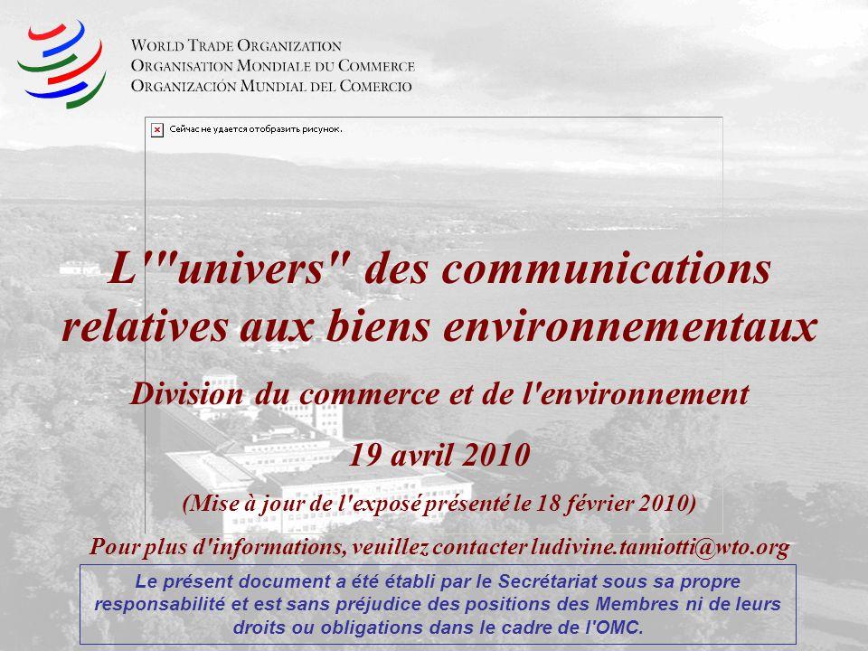L univers des communications relatives aux biens environnementaux