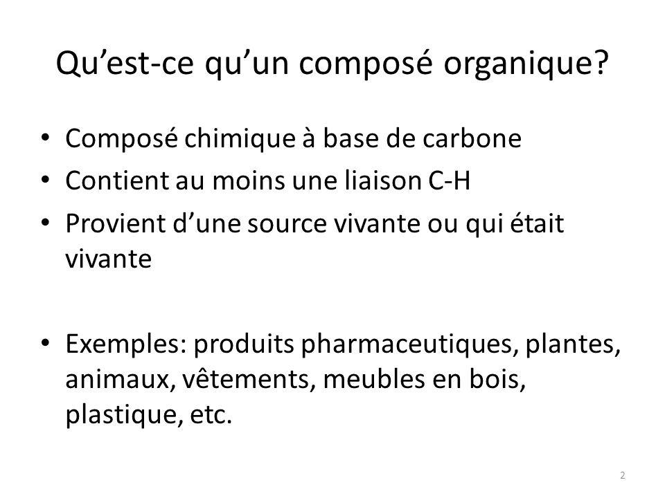 Qu'est-ce qu'un composé organique