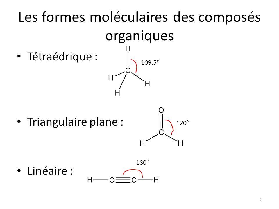 Les formes moléculaires des composés organiques