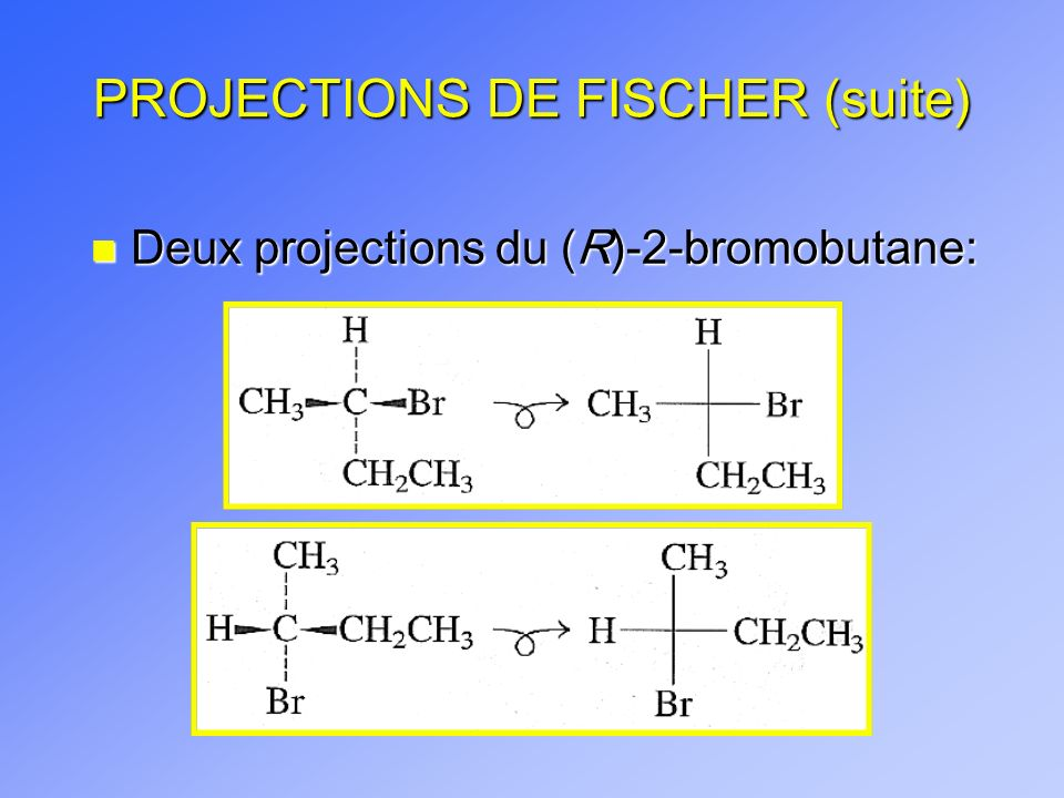 R 2 Chlorobutane Fischer Projection 5.4 PROJECTIONS...