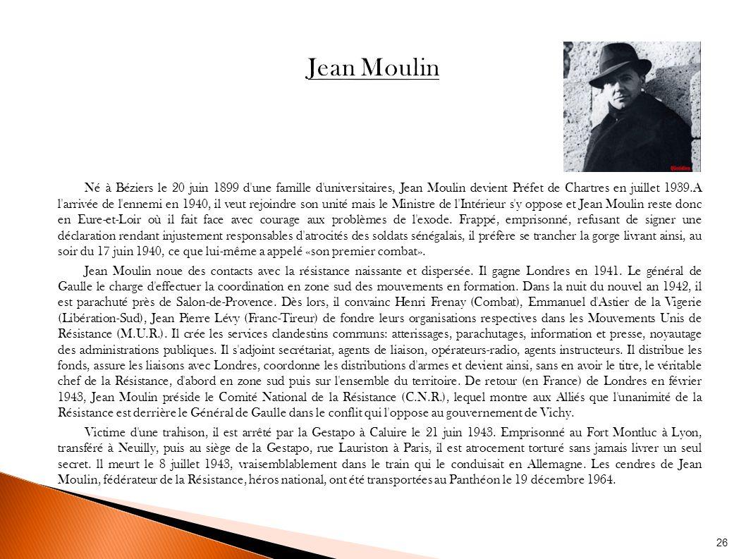 La r sistance en france par les autorit s d 39 occupation - La poste salon de provence jean moulin ...