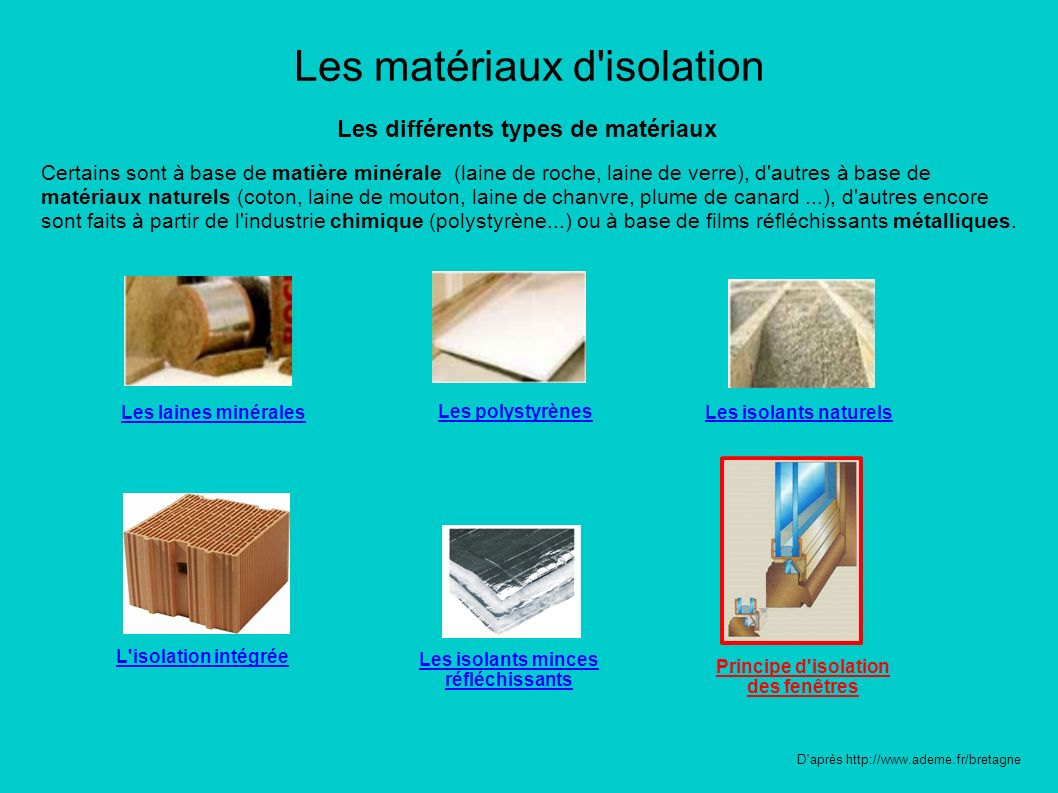 Les mat riaux d 39 isolation ppt t l charger - Les differents isolants ...