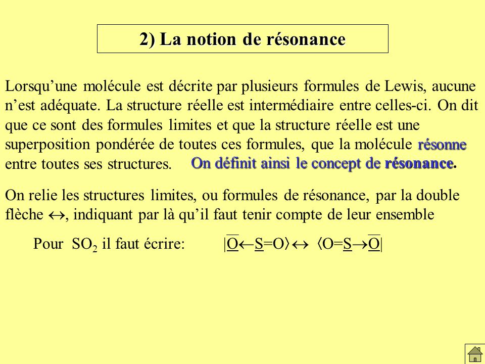 2) La notion de résonance