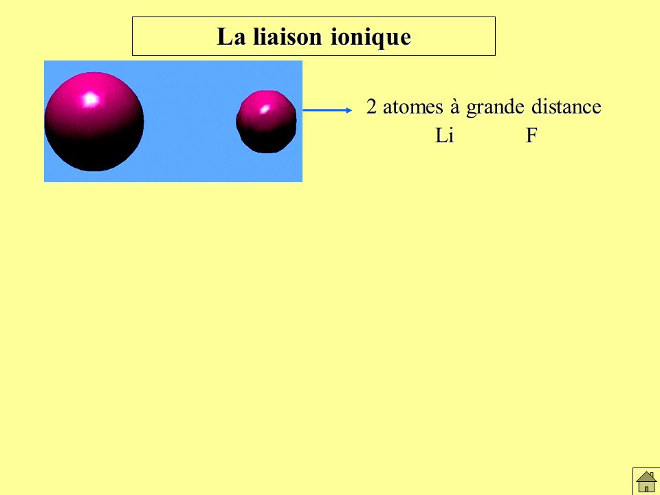 Formation du lien ionique