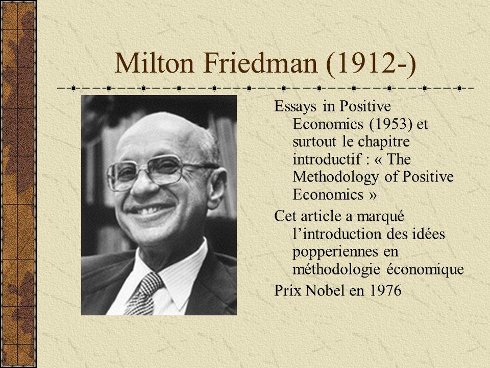 milton friedman research paper Milton friedman's works include many monographs, books, scholarly articles, papers, magazine columns, television programs, and lectures, and friedman believed the united states should enter the war[38] in 1943, friedman joined the division of war research at columbia university (headed.