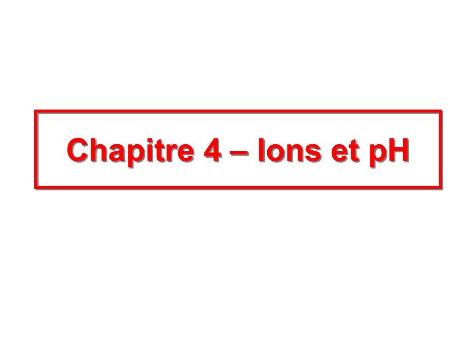 Chapitre 4 – Ions et pH