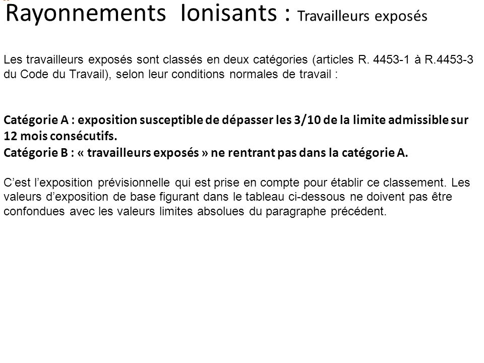 Les Rayonnements : - non ionisants - ionisants - ppt ...