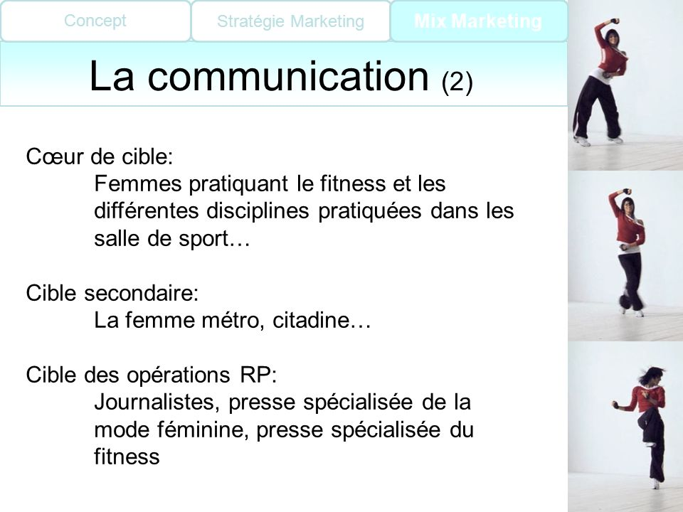 La communication (2) Cœur de cible: