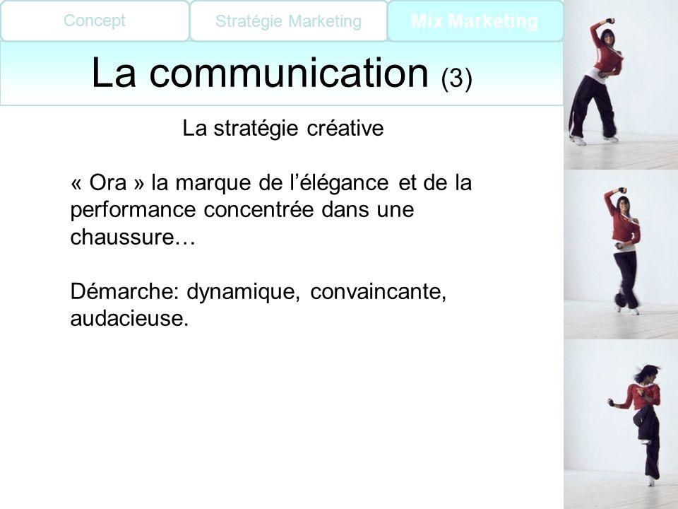 La communication (3) La stratégie créative