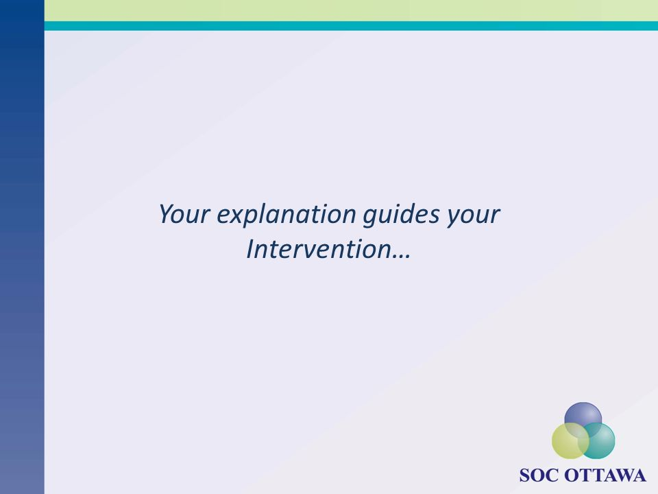 Your explanation guides your