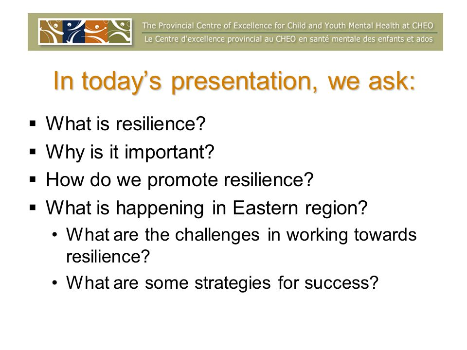 In today's presentation, we ask: