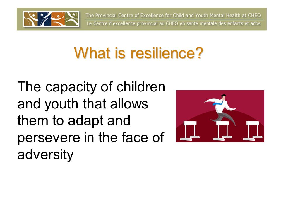 What is resilience.