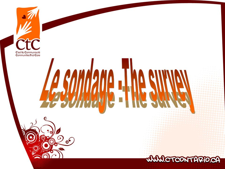 Le sondage -The survey