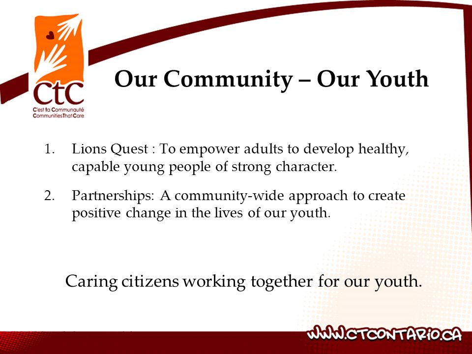 Our Community – Our Youth