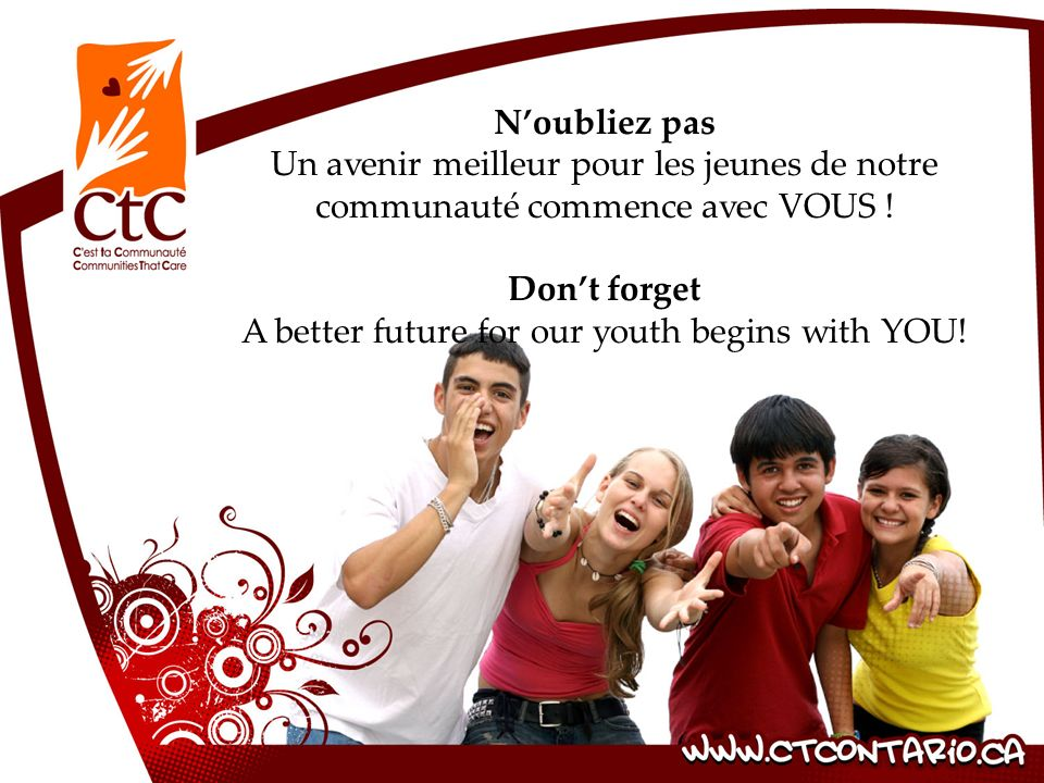 A better future for our youth begins with YOU!