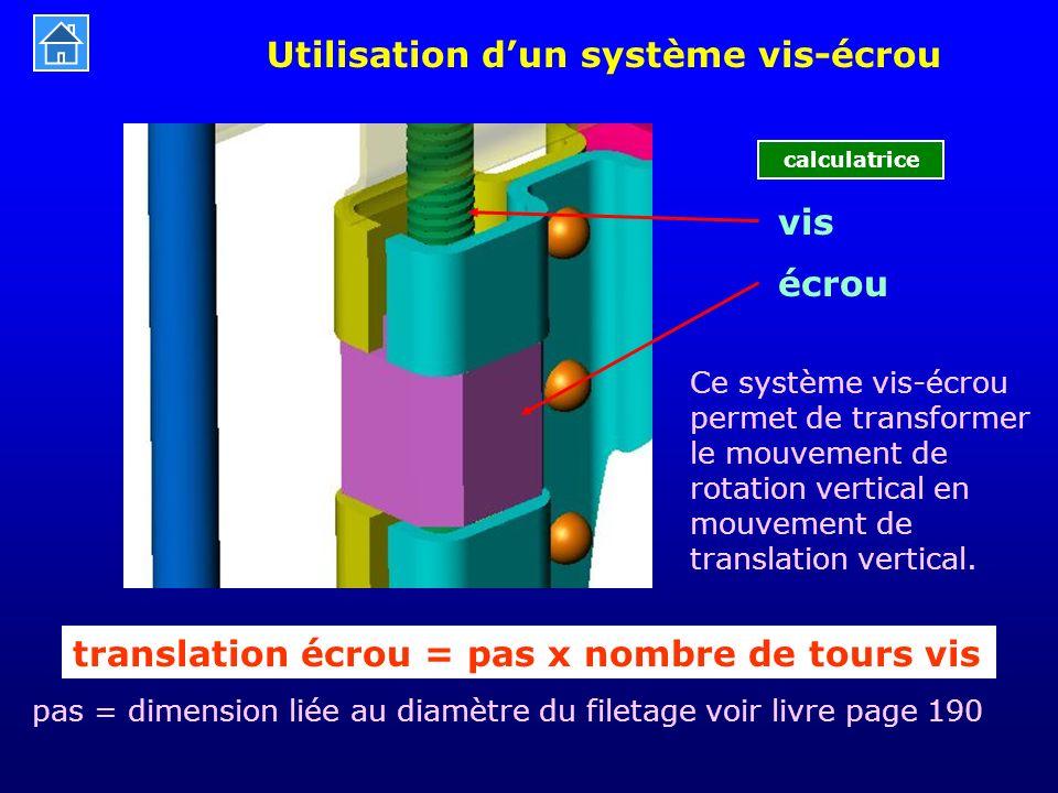 pas = dimension liée au diamètre du filetage voir livre page 190