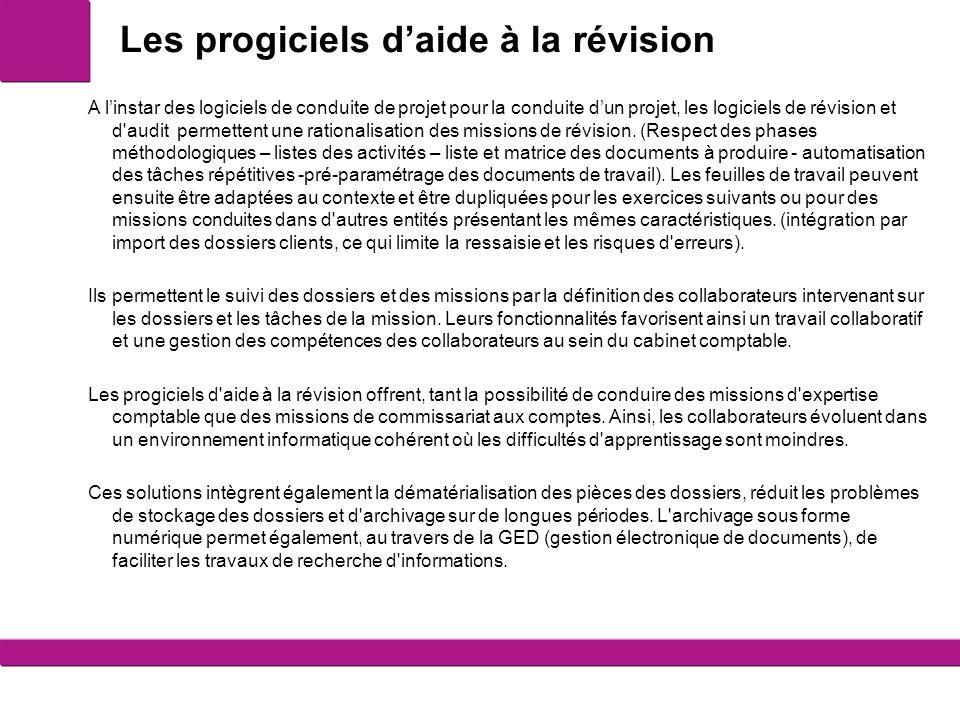 Les progiciels d aide la r vision ppt t l charger - Liste des cabinets d expertise comptable au senegal ...