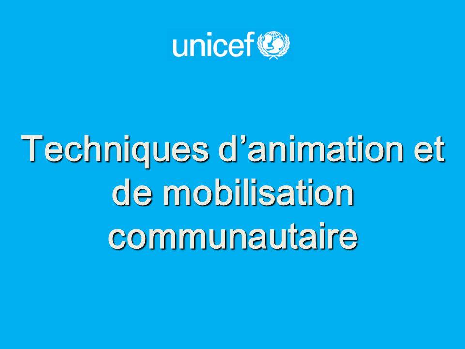 Techniques d'animation et de mobilisation communautaire