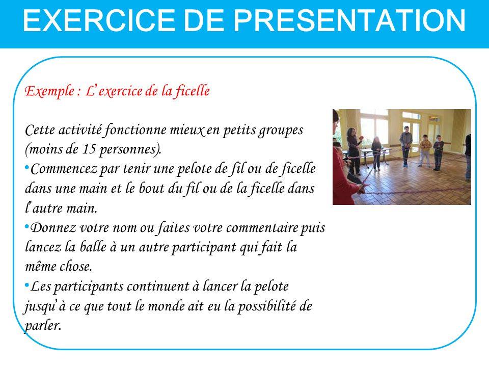 EXERCICE DE PRESENTATION