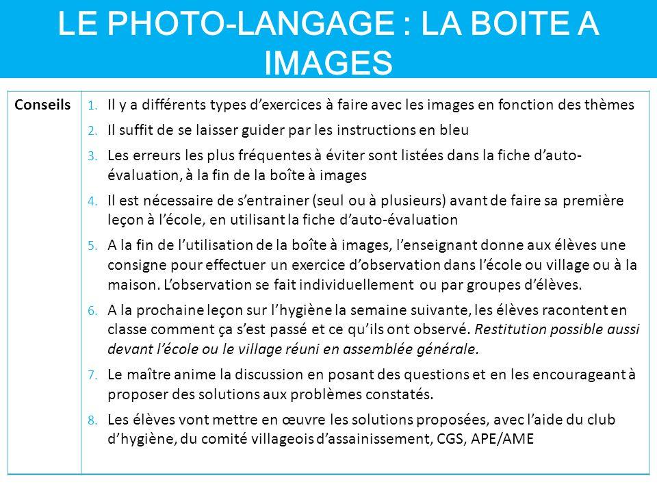 LE PHOTO-LANGAGE : LA BOITE A IMAGES