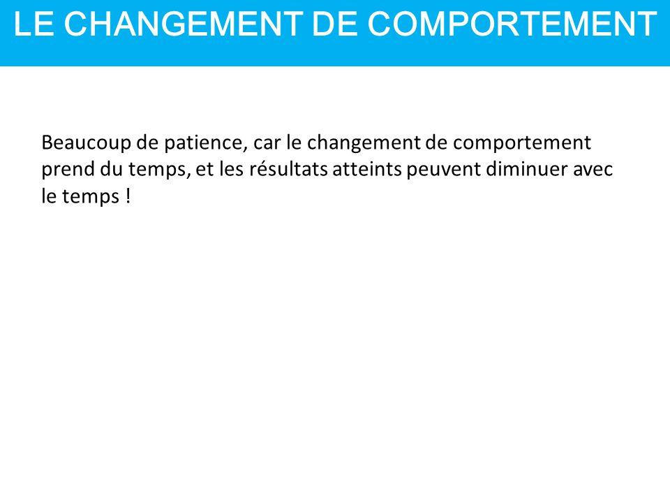 LE CHANGEMENT DE COMPORTEMENT