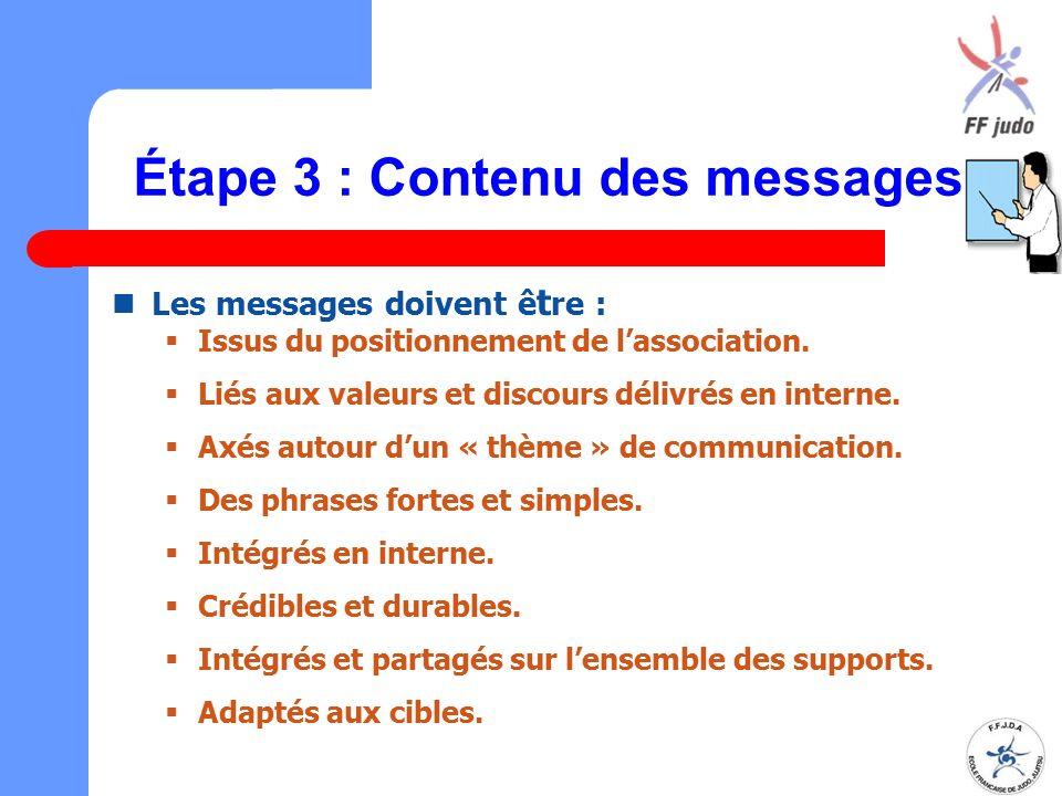 Étape 3 : Contenu des messages