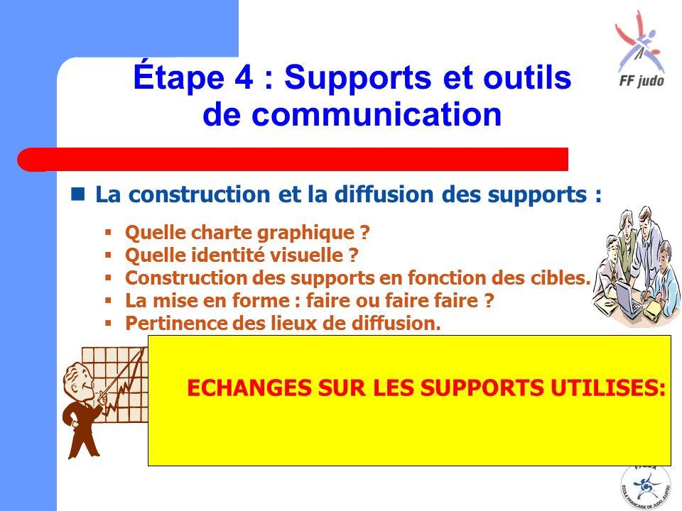 Étape 4 : Supports et outils de communication