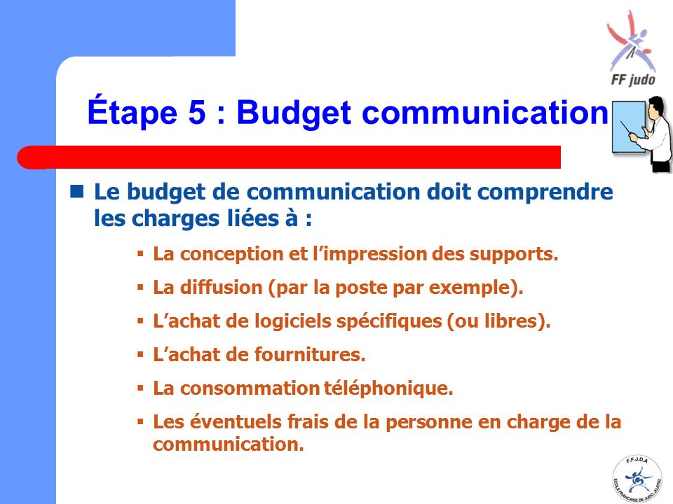 Étape 5 : Budget communication