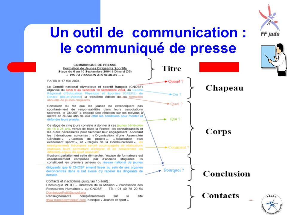 Un outil de communication : le communiqué de presse