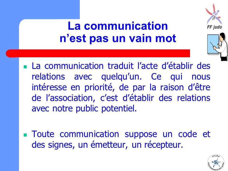 La communication n'est pas un vain mot