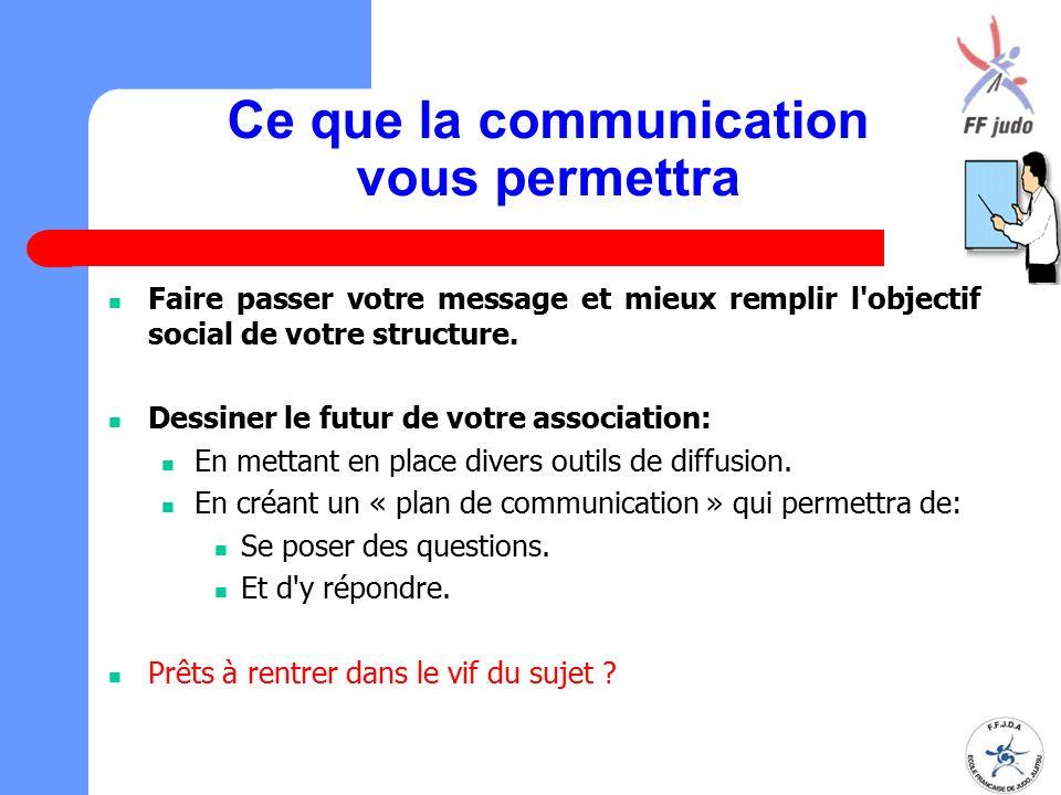 Ce que la communication vous permettra