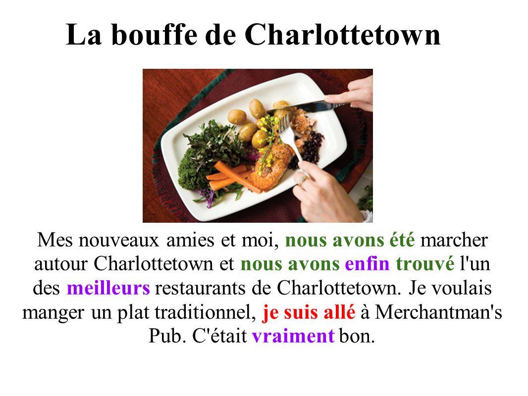 La bouffe de Charlottetown