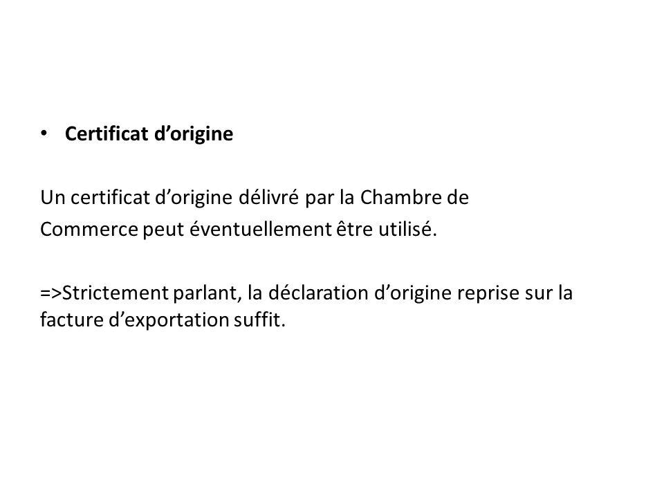 Envoyer des marchandises aux etats unis en chine et en - Certificat d origine chambre de commerce ...