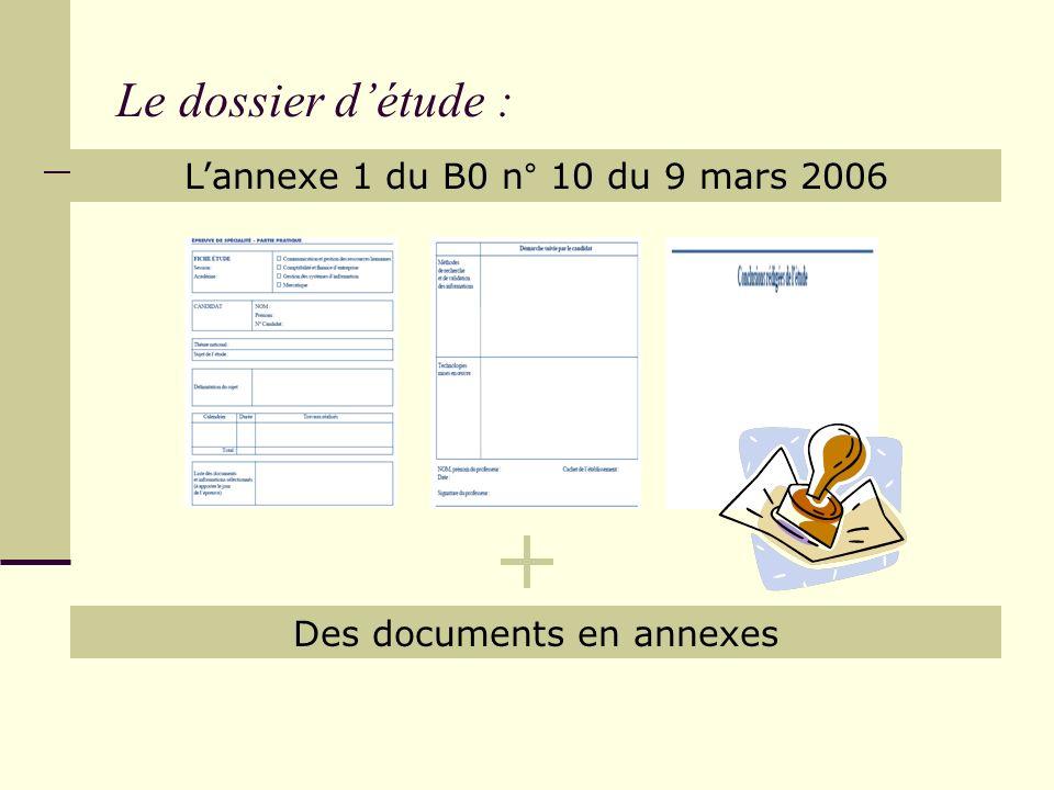 Des documents en annexes