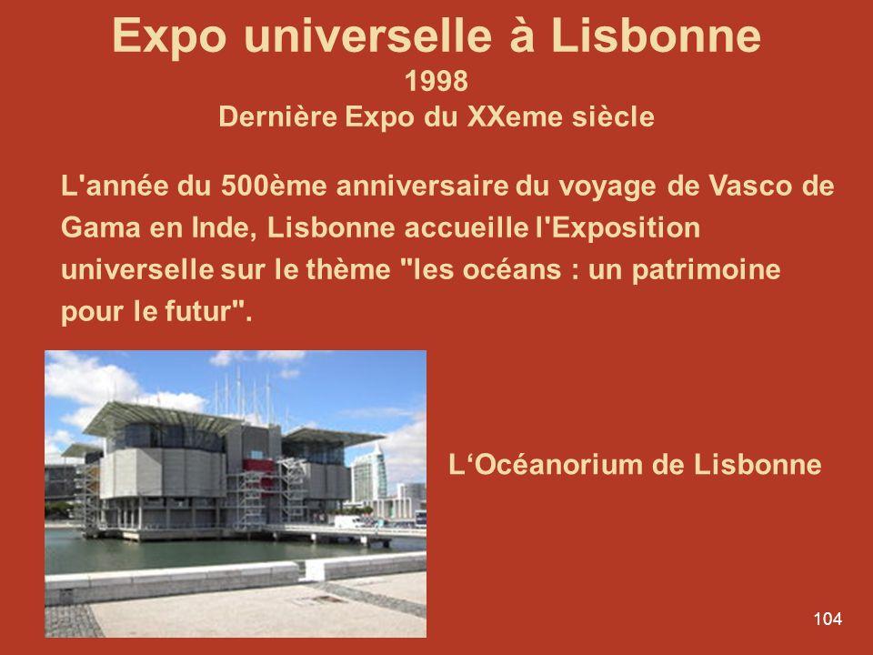 Expo universelle à Lisbonne