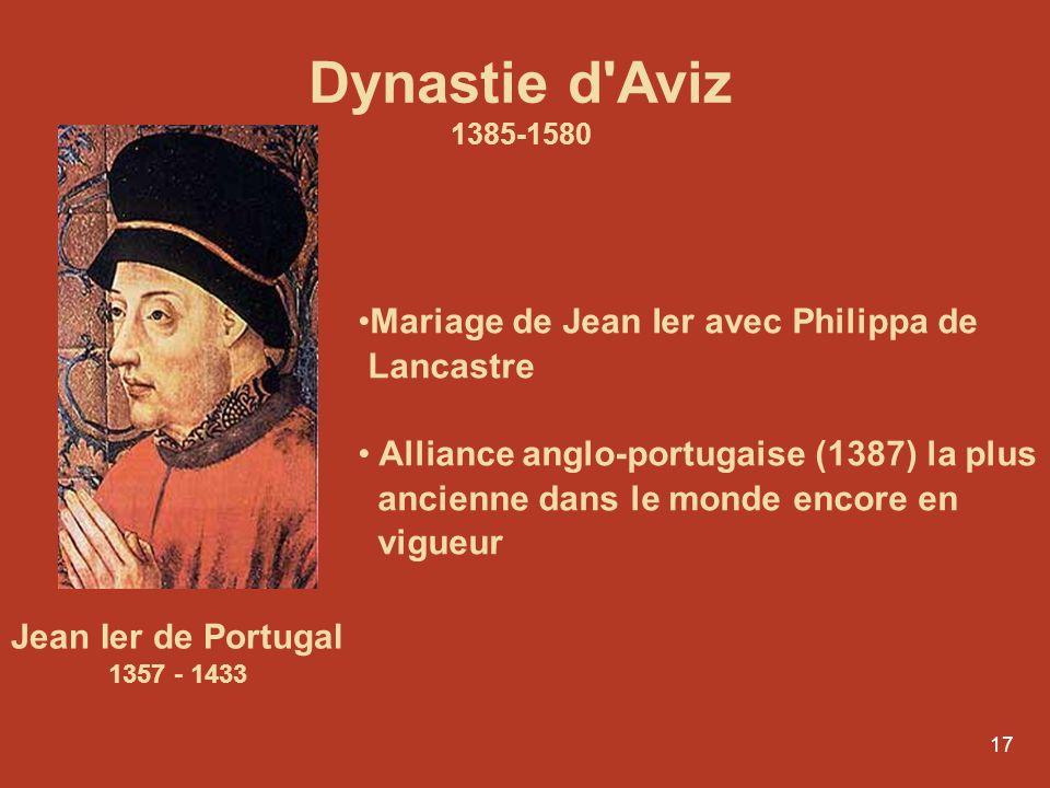 Dynastie d Aviz Mariage de Jean Ier avec Philippa de Lancastre