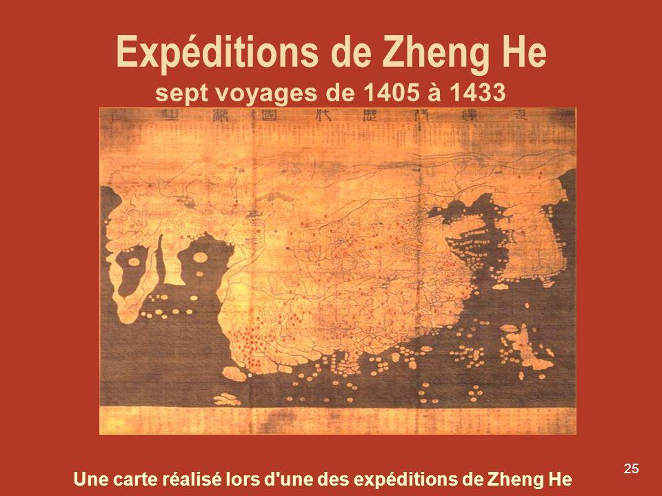 Expéditions de Zheng He sept voyages de 1405 à 1433