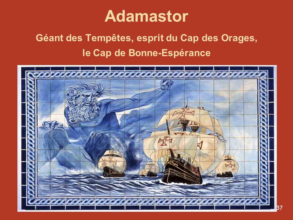Adamastor Géant des Tempêtes, esprit du Cap des Orages, le Cap de Bonne-Espérance