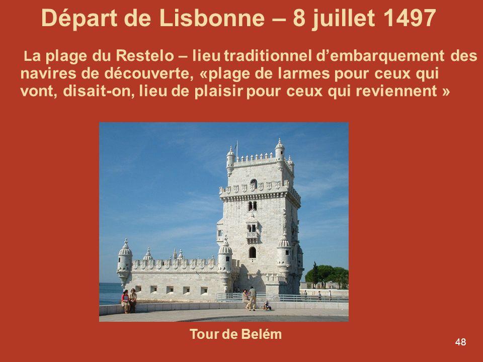 Départ de Lisbonne – 8 juillet 1497
