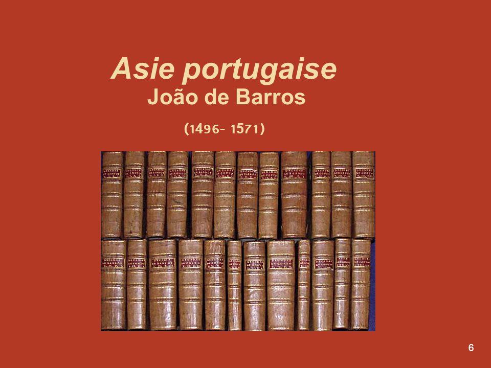 Asie portugaise João de Barros (1496- 1571)